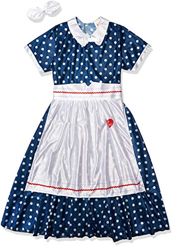 Fun World Licensed I Lovelucy Polka Dot Dress Love Lucy, Blue, Size L 14-16