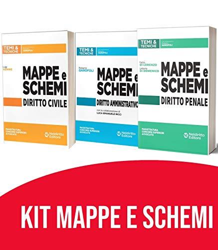 Kit Mappe e schemi 2021: Mappe e schemi Di Civile + Mappe e schemi Di Penale + Mappe e schemi Di Amministrativo