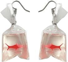 Afco Funny Goldfish Water Bag Dangle Hook Earrings Girl Charm Christmas Gift