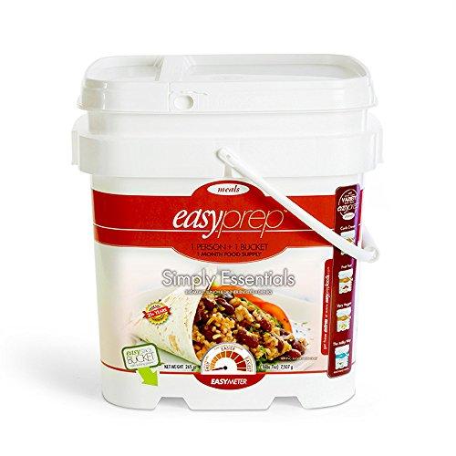 EasyPrep Simply Essentials 1-Month Emergency Food Storage Kit, Freeze-Dried Entrees/Sides, Variety (1-Pack | 196 total Servings)