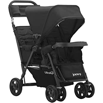 Joovy Caboose Too Ultralight Graphite Stroller, Stand on Tandem, Double Stroller, Black