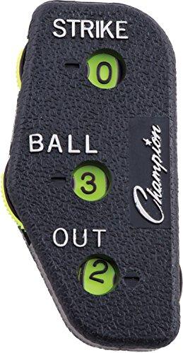 Champion Sports Baseball Umpire Count Indicator, Black