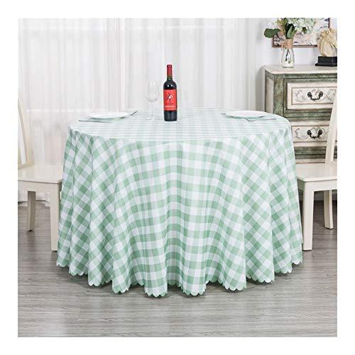 Tablecloth Tischdecke Stoff, runde tischgitter couchtisch Tuch, geeignet for innen/außen, Buffet Picknick Hochzeit Geburtstagsfeier (Color : K, Size : 2.4 Meters)