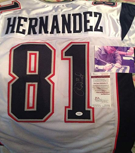 Aaron Hernandez Autographed Signed Signed Jersey -JSA Authentic! With Signing Picture!