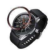 LENASH Caja de Reloj Marco de protección de Acero de dial para Galaxy Watch 46mm (Color : Black Red)