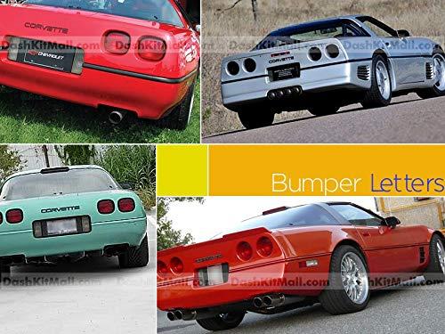 SF Sales USA - Mattschwarze vordere und hintere Stoßstangen-Buchstaben für Corvette C4 1984–1990 Kunststoffeinsätze, keine Aufkleber.
