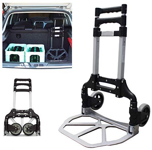 TrutzHolm® Alu Sackkarre klappbar Transportkarre Stapelkarre Handkarre Karre (80 kg)