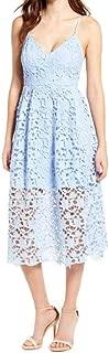 Jojckmen Women Summer Lace Long Dress Hollow Floral Backless Sling Dress V Neck