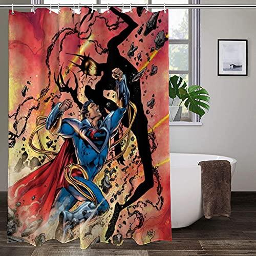 Ungiftig, kein Geruch, Duschvorhang, Superman, hohe Temperaturwiderstandsfähigkeit, farbenfroher Duschvorhang, langlebig, Badezimmer-Gardinen