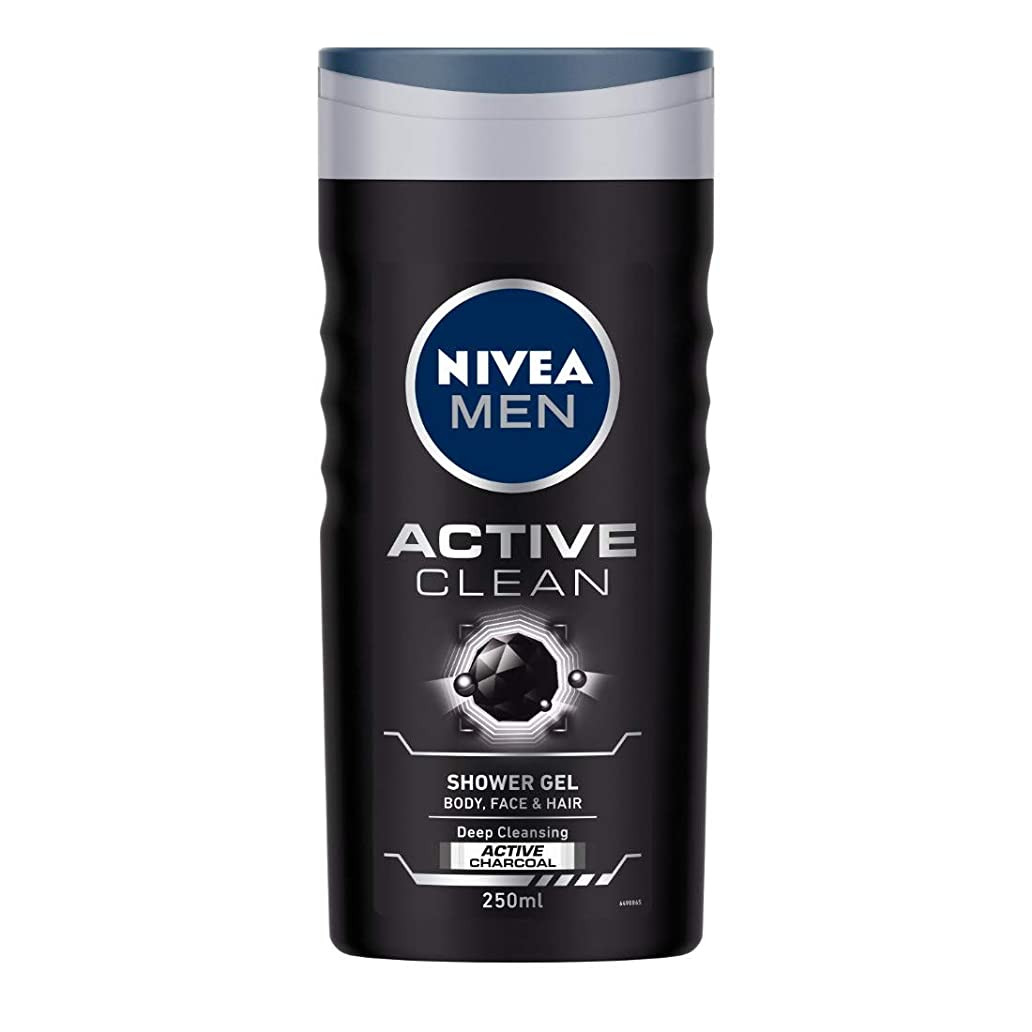 罪悪感詐欺消すNivea Men Active Clean Shower Gel, 250ml