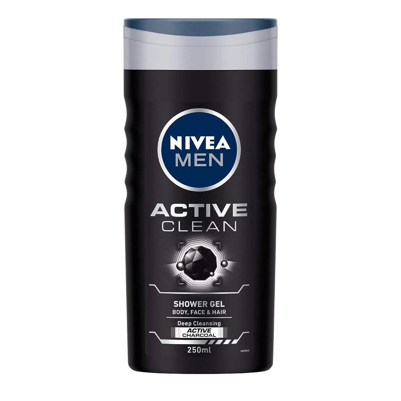 ケント美的角度Nivea Men Active Clean Shower Gel, 250ml