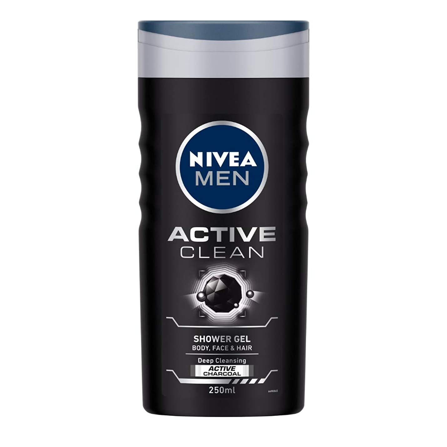 頬骨洗うソートNivea Men Active Clean Shower Gel, 250ml
