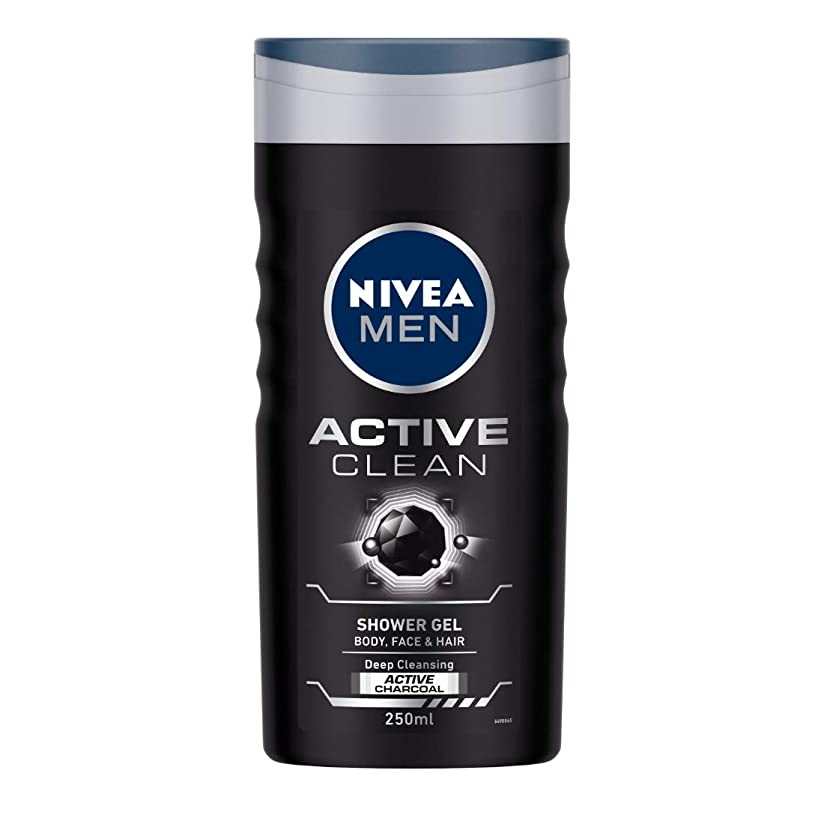 上へセージ経度Nivea Men Active Clean Shower Gel, 250ml