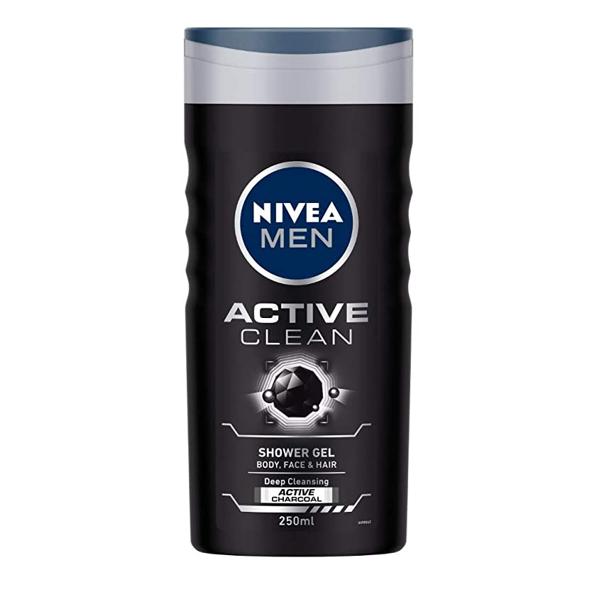 未就学再現するトリムNivea Men Active Clean Shower Gel, 250ml