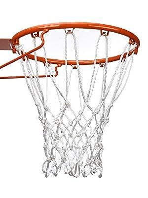 BBTO 12 Loop Basketball Net Universal Hoop Replacement Net Fits Standard Indoor or Outdoor Basketball Hoop, Basketball Hoop Not Included