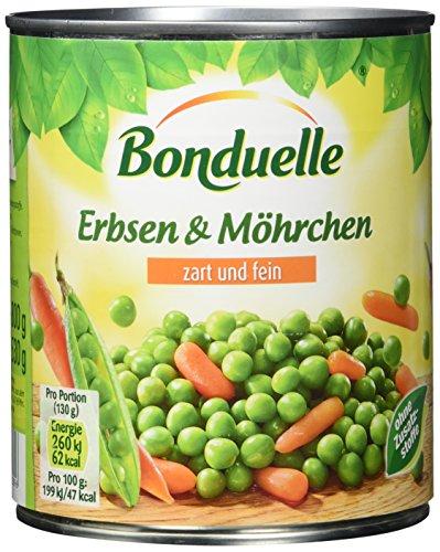 Bonduelle Erbsen mit Möhrchen zart und fein, 6er Pack (6 x 850 ml)