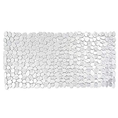 WENKO Tapis de baignoire Paradise transparent - antidérapant, ventouses, Polychlorure de vinyle, 36 x 71 cm, Transparent