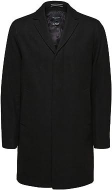 SELECTED HOMME Slhhagen Wool Coat B Noos Manteau de Laine