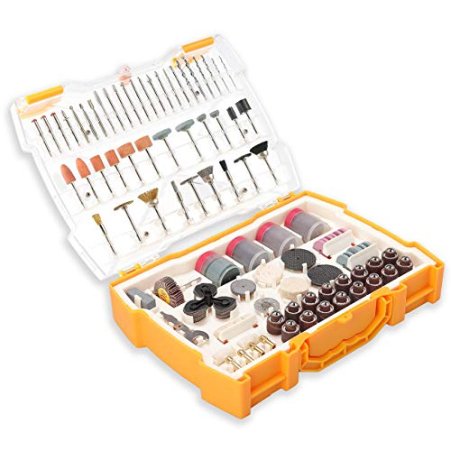UTOOL 300pcs All-Purpose Rotary Tool Accessories Kit, Universal Fitment for DIY Woodworking, Cutting, Grinding, Sanding, Sharpening, Carving and Polishing