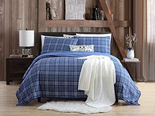 Swift Home Unique Cozy Reversible Mink Blanket 4-Piece Microfiber Bed Sheet Set - King, Blue/Navy