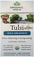Organic India Tulsi India Breakfast Tea, 18 Count (Pack of 6) by Organic India