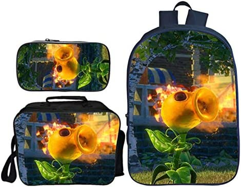 GD Clothes Plants vs Zombies Backpack Kids Boys School Backpack Cartoon School Bags with Insulation product image