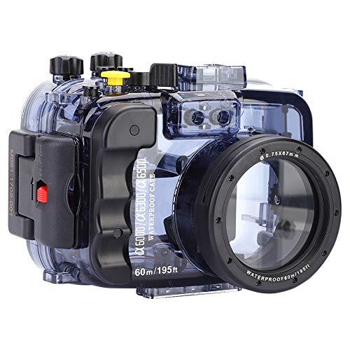 Vcriczk Carcasa para Accesorios de cámara, Carcasa subacuática, para Sony A6300 Sony...