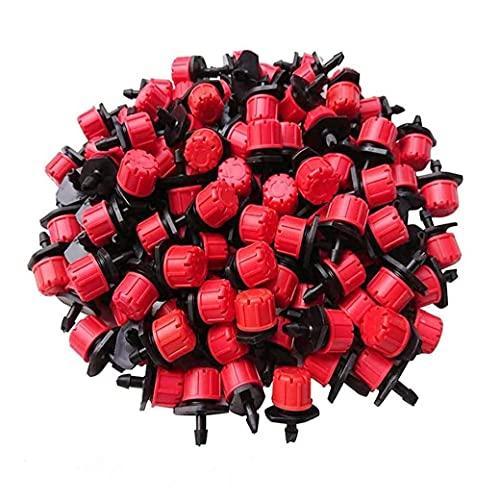 sevenjuly Bewässerung Dripper Bewässerungssprüheinheit Drippers Adjustable Micro 8 Lochfluß Tropfer für Garten Gewächshäuser Blumenbeet 100PCS, Gartenwerkzeuge