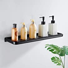 Zwarte ruimte aluminium vrij ponsen badkamer opbergrek, badkamer verdikking ijdelheid rek, badkamer opbergrek-50cm zonder ...