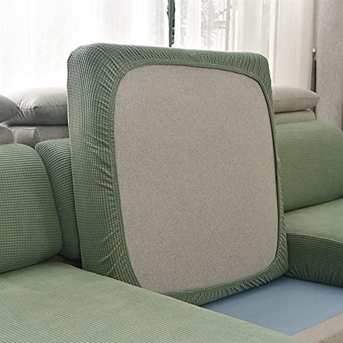 LIWENFU Cubierta de sofá, Color de Color Sólido Plaid Cojín de Cojín de Cojín Terciopelo Elástico para Sala de Estar Caise Longue Cintura 1/2/3/4 Seaver para Hogar y Jardín