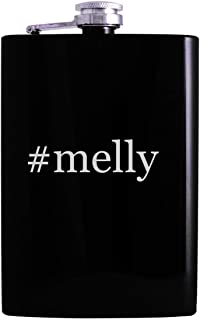 #melly - 8oz Hashtag Hip Alcohol Drinking Flask, Black