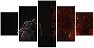 MhY 5 Piezas Star Wars Rebels Theme Decoración para el hogar Sala de Estar HD Print Master Yoda Canvas Painting Art Wall Master Yoda Oil Picture 25x38cm-2p 25x50cm-2p 25x63cm-1p Sin Marco