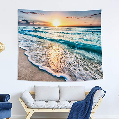 xkjymx Dekorative Decke Wandteppich blau Marine Wandteppich Malerei Schlafzimmer riesigen hängenden Stoff Stoff Wandbehang ## 7 150x130