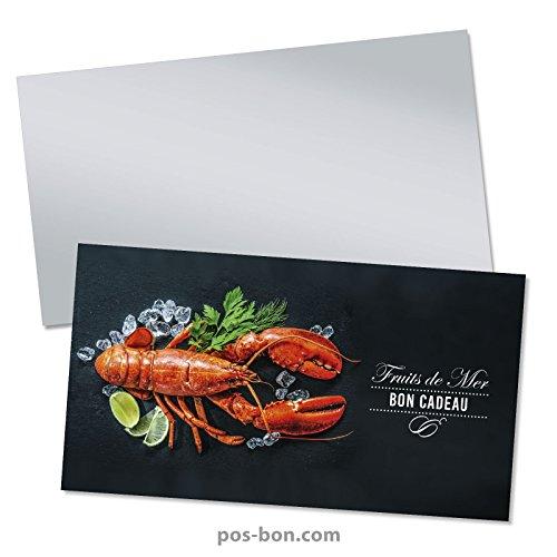 50 Bons cadeaux + 50 enveloppes pour poissonneries, fruits de mer FK1202F