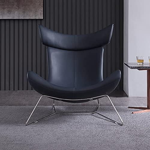 WALNUT Silla Individual de diseño, sofá nórdico, sofá pequeño, Silla de Cuero para recepción artística, Silla de Ocio, Modelo de habitación, sofá Individual