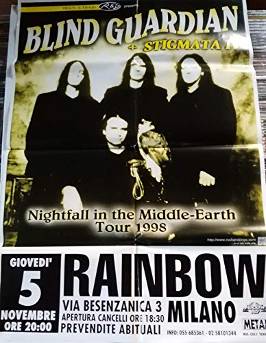 Blind Guardian + Stigmata Nightfall in the Middle Earth Milano Rainbow 05/11 -Poster
