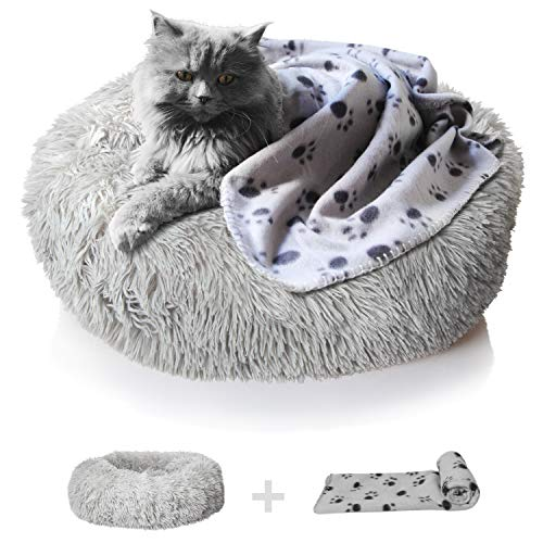 MYYXGS Orthopedic Dog Bed Comfort Donut Washable Dog And Cat Cushion Bed 40Cm