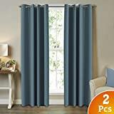 Premium Blackout Thermal Insulated Room Darkening Curtains for Bedroom/Living Room - Eyelet Top