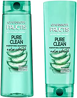 Garnier Fructis Daily Use Pure Clean Shampoo And Conditioner With Aloe Extract 12.5 oz.