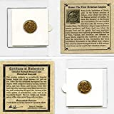 YOU GET ONE COIN Comes in mini folder with Certificate of Authenticity Authentic Ancient Roman Coin from 306-410 AD Great gift & educational item!