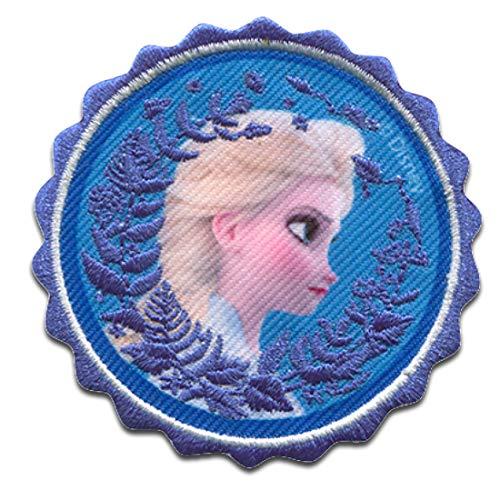 Disney © Frozen 2 Die Eiskönigin 2 Elsa Kopf - Aufnäher, Bügelbild, Aufbügler, Applikationen, Patches, Flicken, zum aufbügeln, Größe: 6,5 x 6,5 cm