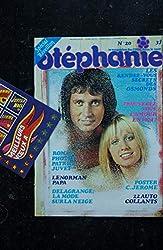 STEPHANIE 020 1973 DECEMBRE COVER STONE & CHARDEN PATRICK JUVET LENORMAN OSMONDS + POSTER C. JEROME