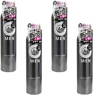 【まとめ買い】エージーデオ24 メンズデオドラントスプレー 無香性 100g【×4個】