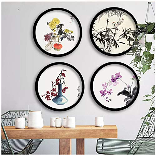 Print hanging paintings on canvas Chinese style four gentlemen paintings living room kitchen decoration paintings
