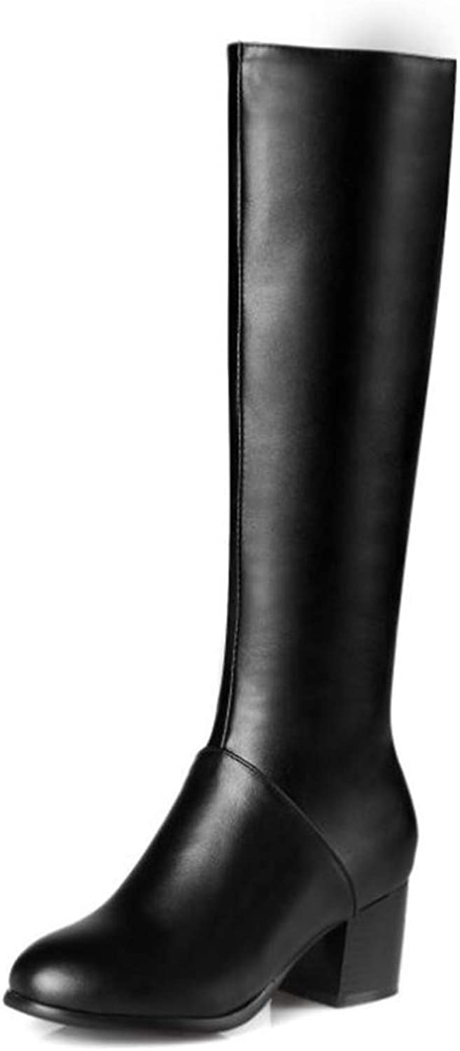 Unyielding1 Women's Thigh High Boots Stretchy Over The Knee Chunky Block Heel Boots