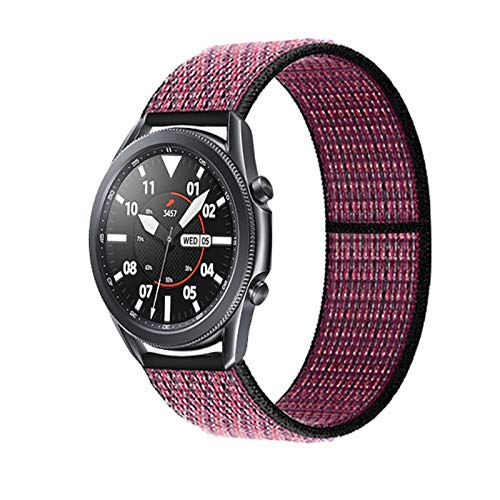 DAAGFC 20 22mm Watch Band for Gear S3 Frontier Strap Galaxy Watch 3 45mm 41mm 46 Active 2 44mm 40mm Nylon para Huawei Watch GT2E / 2 Strap 42 (Band Color : Pink Blast 50, Band Width : 22mm)