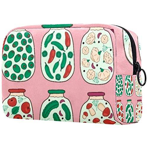 Bolsa de cosméticos Conservas Verduras Adorable Espaciosa Maquillaje Bolsas de Viaje Neceser...