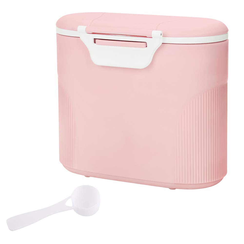 Accmor Portable Formula Dispenser with Scoop, BPA Free Milk Powder Container, Food Storage, Candy Fruit Box, Snack Containers, for Infant Toddler Children Travel (Green, Pink, Blue)