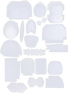 non-brand 49 Unids Plantillas De Acolchado De Plástico Plantillas De Costura Patchwork Regla Herramienta De Costura Incluye 39 Estilos