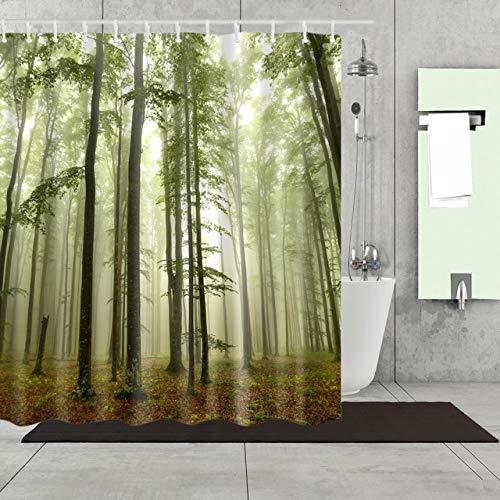 Deirdre Agnes Gedrukt 3d douchegordijnpatroon badkamer douche waterdicht en schimmel decoratief douchegordijn 90x180cm